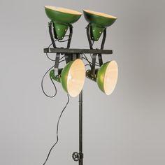 Lámpara de pie PEDESTAL verde