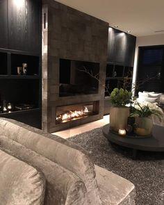 Dream Living Rooms, Modern Apartment Living Room, Living Room Design Modern, Living Room Decor Apartment, Luxury Living Room, Living Room With Fireplace, Apartment Living Room, Interior Design, House Interior