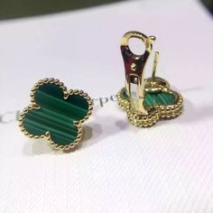 Van Cleef & Arpels Most Popular Vintage Alhambra earrings, 2 ...
