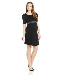 A Fashionable Yet Simple Formal Maternity Dress!