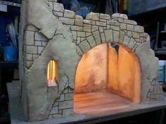 Istillarty Creations: How to make a Bethlehem Portal - Oscar Wallin Christmas Nativity Scene, Christmas Bows, Christmas Villages, Christmas Makes, Christmas Projects, Christmas Decorations, Christmas Holidays, Model Castle, Easter Play
