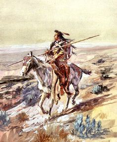 Indian with Spear CHARLES MARION RUSSELL