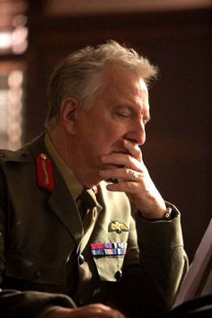 Alan Rickman in his last film, Eye in the Sky, which is phenomenal.