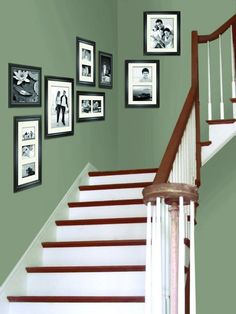 I want to paint my stairway a different color than the rest of the room.  The green is perfect!