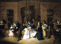 Artist Pietro Longhi (1702–1785)    Alternative names Birth name: Pietro Falca   Date of birth/death 1702(1702) 8 May 1785(1785-05-08)   Location of birth/death Venice Venice   Work location Venice   Authority control LCCN: n82141032 | PND: 118780425 | WorldCat | WP-Person      Title The Ridotto in Venice   Date 1750's