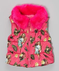 Take a look at this Magenta Angel Cake Puffer Vest - Toddler & Girls by Betsey Johnson on #zulily today!
