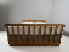 Guillerme & Chambron Art Deco Bed in Solid Oak 4