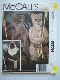 Ewok Star wars costume pattern 8731 size 12-14 child large unused