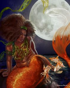 Goldfish Mermaid by Rebecca Flaum