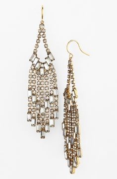 Such gorgeous crystal chandelier earrings.