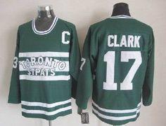 NHL Maple Leafs Wendel Clark #17 Green Jersey http://www.nicejerseysnow.com/
