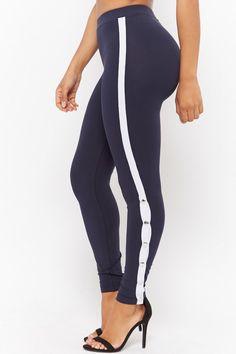 Product Name:Kikiriki Contrast Striped Leggings, Category:CLEARANCE_ZERO, Price:28