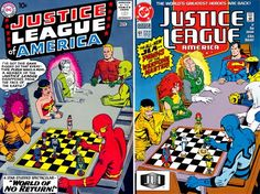 Justice League of America #1 cover homage