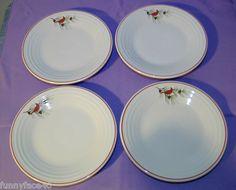 "$20 Set of 4 Fiestaware Cardinal Bird Plates New 1st Quality 9"" Fiesta HLC   eBay"