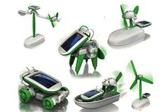 $5.99 6-in-1 Solar-Powered Educational Robotic Kit With 6 Models