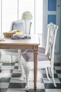 White Painted Chippendale Dining Chairs - Set of 6 | Chairs ...