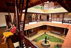Naalukettu- a courtyard is created within the four sections that make a traditional Kerala house.  Lots of woodwork and red tiles are common in these homes.  This type of home is especially beautiful when it rains and also provides great natural cross-ventilation.