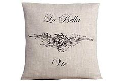 La Bella Vie Linen Pillow, love pillows like this..