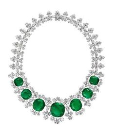 Necklace, 1961 - Platinum with emeralds and diamonds.  Courtesy of de Young Museum