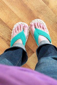 Crocheted Flip Flops?  Yes.