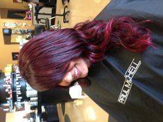 Red ombré with Paul Mitchell The Color and Inkworks.