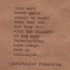 And more Christopher Poindexter. Because he's just that good.