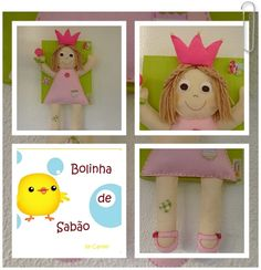 Painted Canvas with Felt Princess