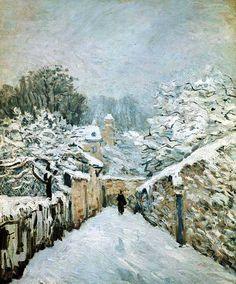 Импрессионизм Альфред Сислей Иней #impressionism #импрессионизм