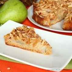 Vollkornkuchen mit Birnen Pie, Desserts, Food, Pear Recipes, Almonds, Cherries, Oven, Cooking Recipes, Torte