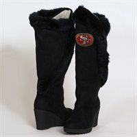 Cuce Shoes San Francisco 49ers Women's Cheerleader Boots - Black They would look so good on me :P Arizona Cardinals, Atlanta Falcons, Baltimore Ravens, Sport Outfits, Nike Outfits, Sock Shoes, Women's Shoes, Denver Broncos, Pittsburgh Steelers