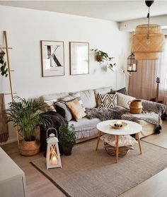 Home Interior Design — Bohemian Inspirations. Neutral earth tones in this. Home Interior Design — Bohemian Inspirations. Neutral earth tones in this. Living Room Scandinavian, Boho Living Room, Living Room Interior, Home And Living, Modern Living, Bohemian Living, Small Living, Earthy Living Room, Modern Minimalist Living Room