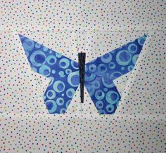 Pieced Butterfly Quilting Pattern/Tutorial by PatcheryMenagerie, $5.00