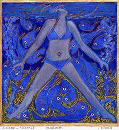 Original People Painting by Ivan Lozica Comparative Literature, Underwater World, Figurative Art, Saatchi Art, Original Paintings, Canvas Art, Watercolor, Sea, Crystals