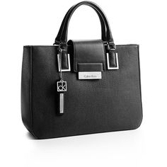 Calvin Klein Women's Valerie Triple Compartment Tote Bag ($90) ❤ liked on Polyvore featuring bags, handbags, tote bags, black, calvin klein handbags, calvin klein purse, faux leather purse, faux leather handbags and black faux leather purse