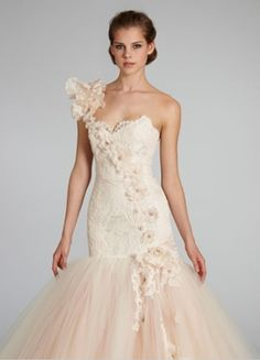 Sweetheart Mermaid Wedding Dress  with Dropped Waist in Tulle. Bridal Gown Style Number:33110529