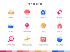 Pet Service Icon designed by Zero Yue. Connect with them on Dribbble; Flat Design Icons, Icon Design, Icon Set, Icon Icon, Face Icon, Graphic Design Branding, Finance, Design Reference, App Design