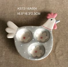 Egg cup in chicken shape