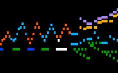 Music notes visualization - Bach - Toccata & Fugue Midi Player, Computer Music, Visualising, Bar Graphs, Music Notes, Catholic, Dreams, Dance, Image