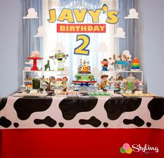 Toy Story desert table cake table by Styling the Moment