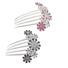 yueton Pack of 2 Women Bride Crystal Rhinestone Petal Hair Comb Wedding Party Headwear Hair Jewelry Accessories >>> To view further for this item, visit the image link.(This is an Amazon affiliate link and I receive a commission for the sales)