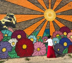 Chicago, IL Wall Painting Decor, Mural Wall Art, Murals Street Art, Graffiti Art, Garden Mural, Sidewalk Chalk Art, Fence Art, Wall Drawing, Mandala Painting