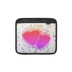 Two Multicolored Hearts iPad Sleeves    *This design is available on several other products.
