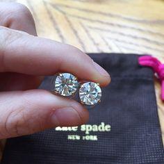 Kate Spade earrings Worn but still has a lot of life left in them kate spade Jewelry Earrings