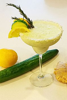 Cucumber Yogurt with Ginger and Lemon detox smoothie, healthy ,clean eating