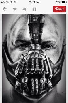 bane mask tattoo - Google Search