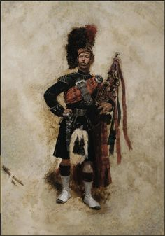 Highland Piper, 1880