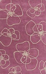 Hand tufted wool is simple and chic floral doodle style pattern by designer Nikki Jansdotter for Surya. From the Decorativa Collection. Floral Doodle, Royal Colors, Floor Art, Contemporary Area Rugs, Carpet Design, Color Of The Year, Shades Of Purple, Pantone Color, Paper Goods