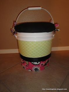 Camping Buckets to sit on and for storage..great idea for camp
