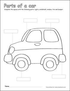color by number car worksheet transportation worksheet for kids