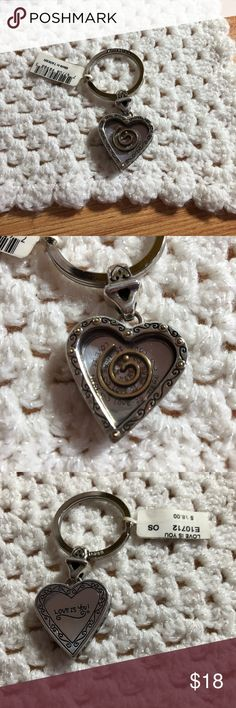 """Brighton Love is You silvertone key fob/ring Brighton """"Love is You"""" silvertone keyfob/jetting Brighton Accessories Key & Card Holders"""